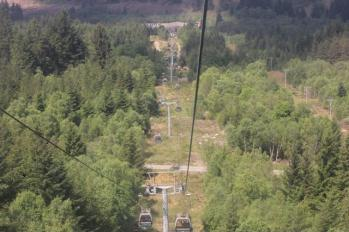 86 view going down of gondolas