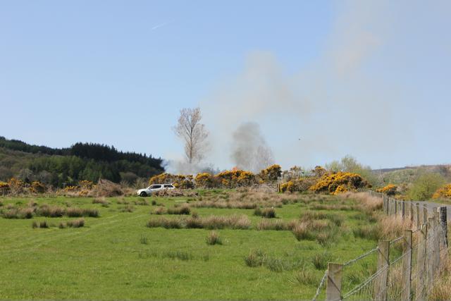 02 fire on Kintyre