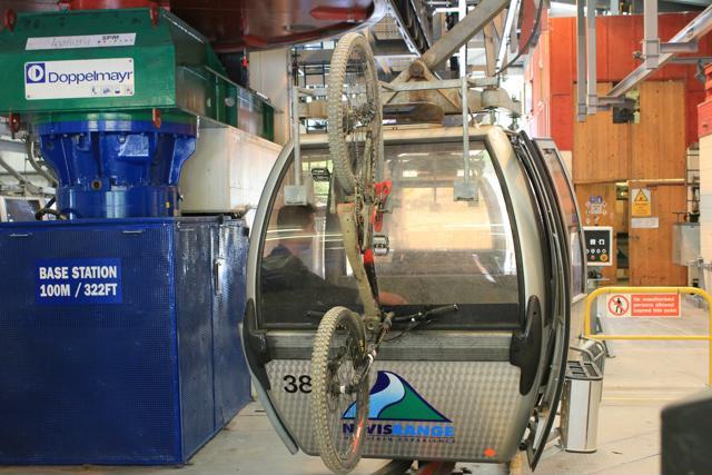 88 mountain bike on back of gondola