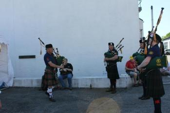28 bagpipers