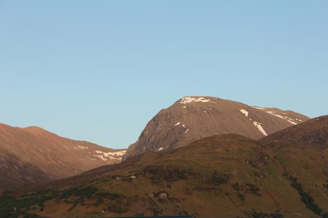 22 view from campsite of Ben Nevis