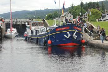34 boat passing through lock