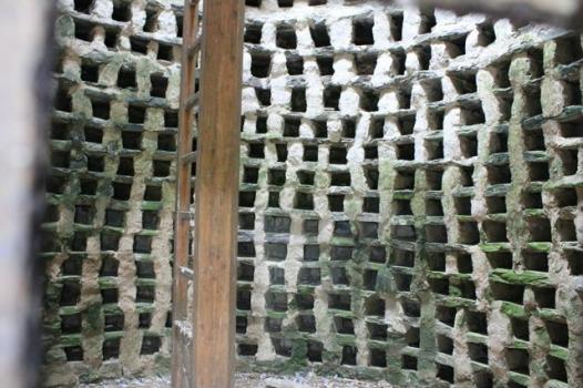 36 nesting boxes inside beehive