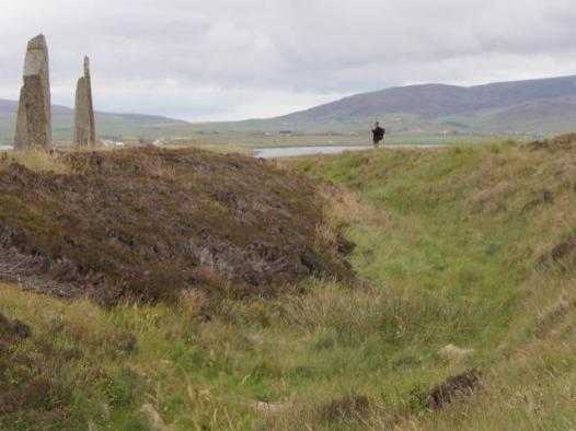 18 ditch around Ring of Brodgar