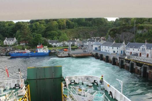 15 ferry leaving Port Askaig