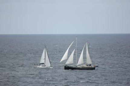 36 boats on the Point Ardnamurchan
