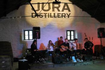06 band playing at Distillery