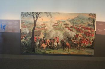 13 tapestry depicting battle
