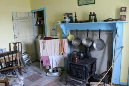 35 kitchen of old croft house