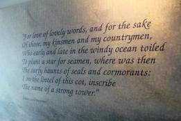 46 Robert Louis Stevenson poem in museum