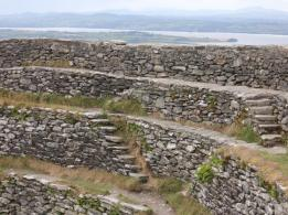 57 steps along wall of Grianan of Aileach - Copy