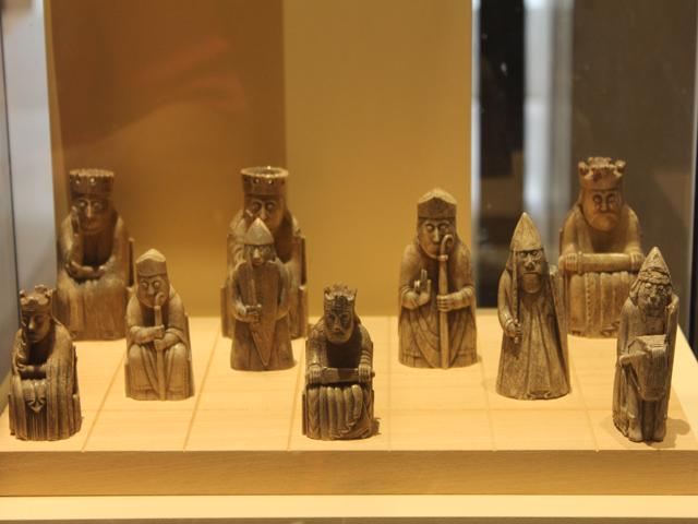 29 chess pieces found at Uig on Isle of Lewis