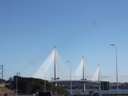 84 new bridge across Firth of Forth into Edinburgh