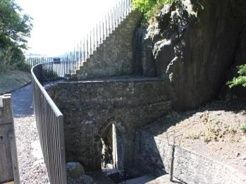 19 steps leading to top of Castle Fort