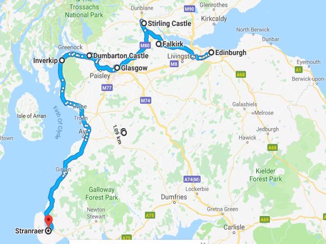 001 Edinburgh to Stranraer