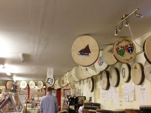 13 shop which makes and sells bodhran