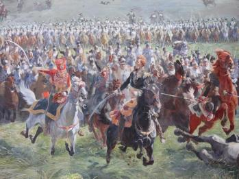 44 Panorama -Marshall Ney at the head of the French cavalry