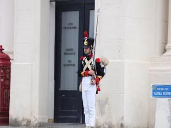 28 guard outside Champ De Battaille Waterloo