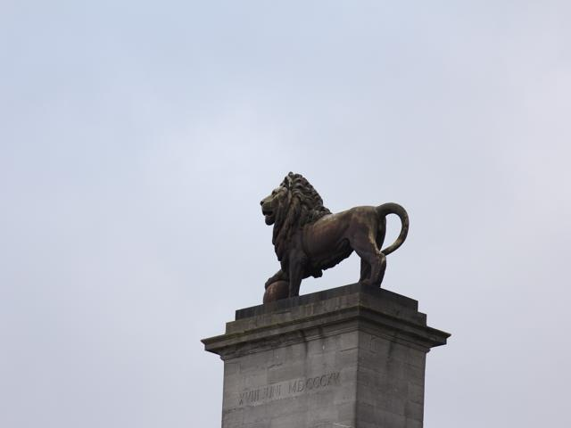 56 Lion with his foot on a cannon ball and facing France
