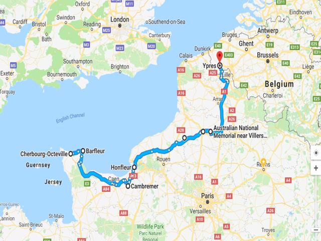 Cherbourg to Ypres