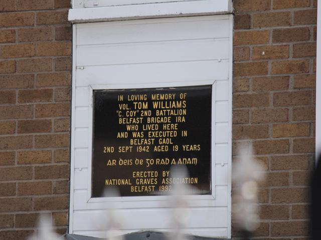 78 plaque on house across road from garden where Tom Williams lived
