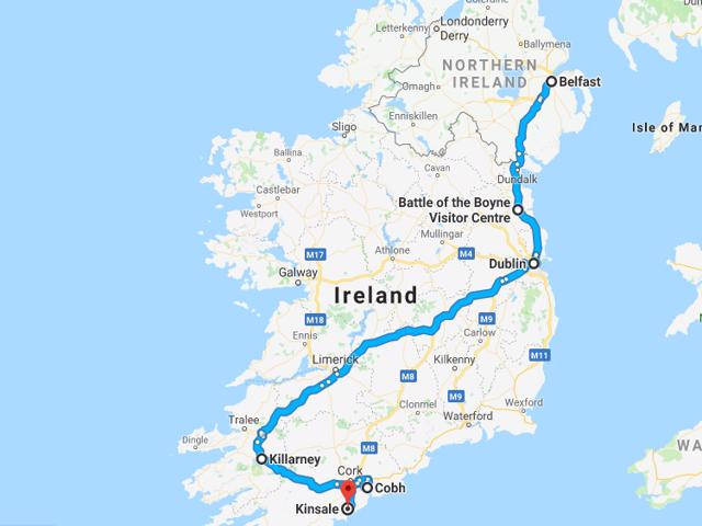 Belfast to Kinsale