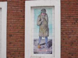 16 glassblower postcard tiles