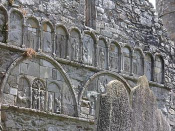 38 engravings on face of Ardmore Castle