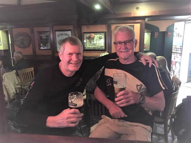 Having a Murphy's with Kilkenny in Killarney