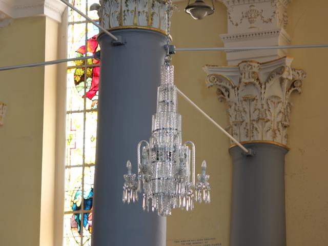 07 Waterford crystal chanderlier hanging in Christ Church Cathedral