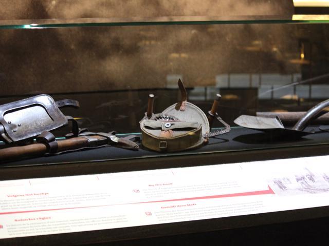 14 display of tunneling tools In Flanders' Field Museum