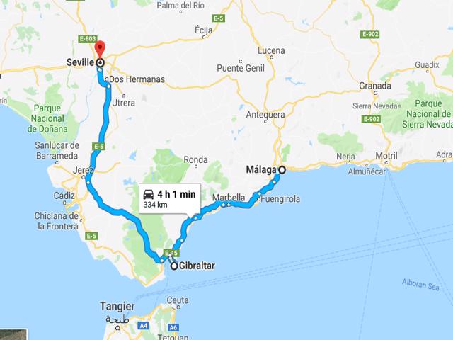 Malaga to Seville