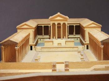 73 display of Roman Forum