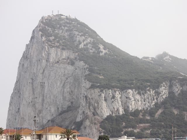 02 Rock of Gibraltar from campsite