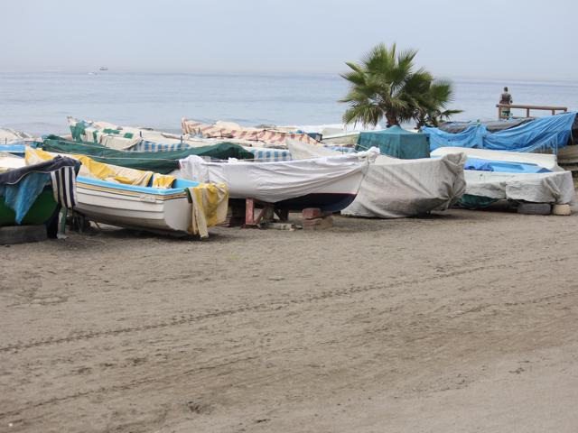 40 boats on foreshore Malaga