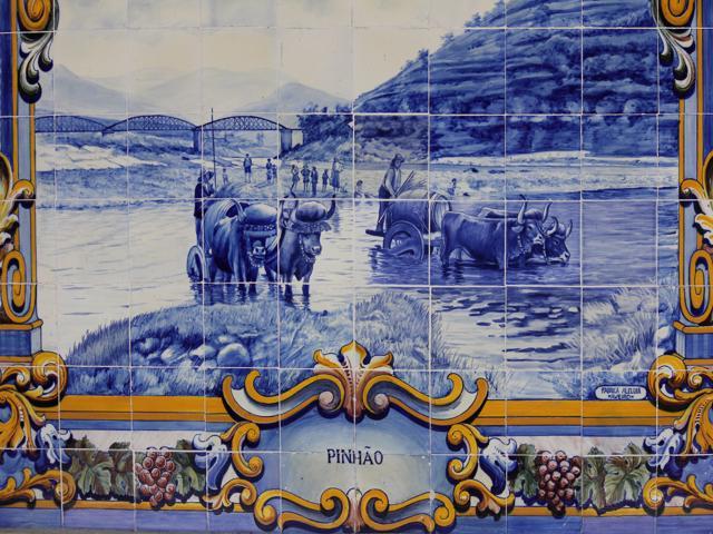 12 tiles at Pinhao Station