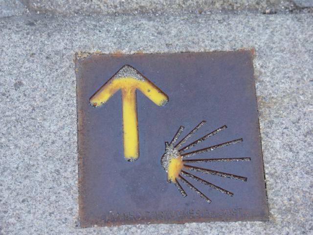 62 Pilgram sign leading to Santaigo de Compostela