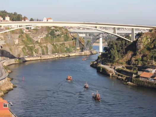 63 rabelo boats on Douro river